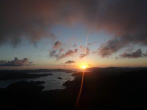 高知山展望所の夕日2