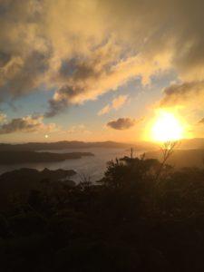 高知山展望所の夕日1