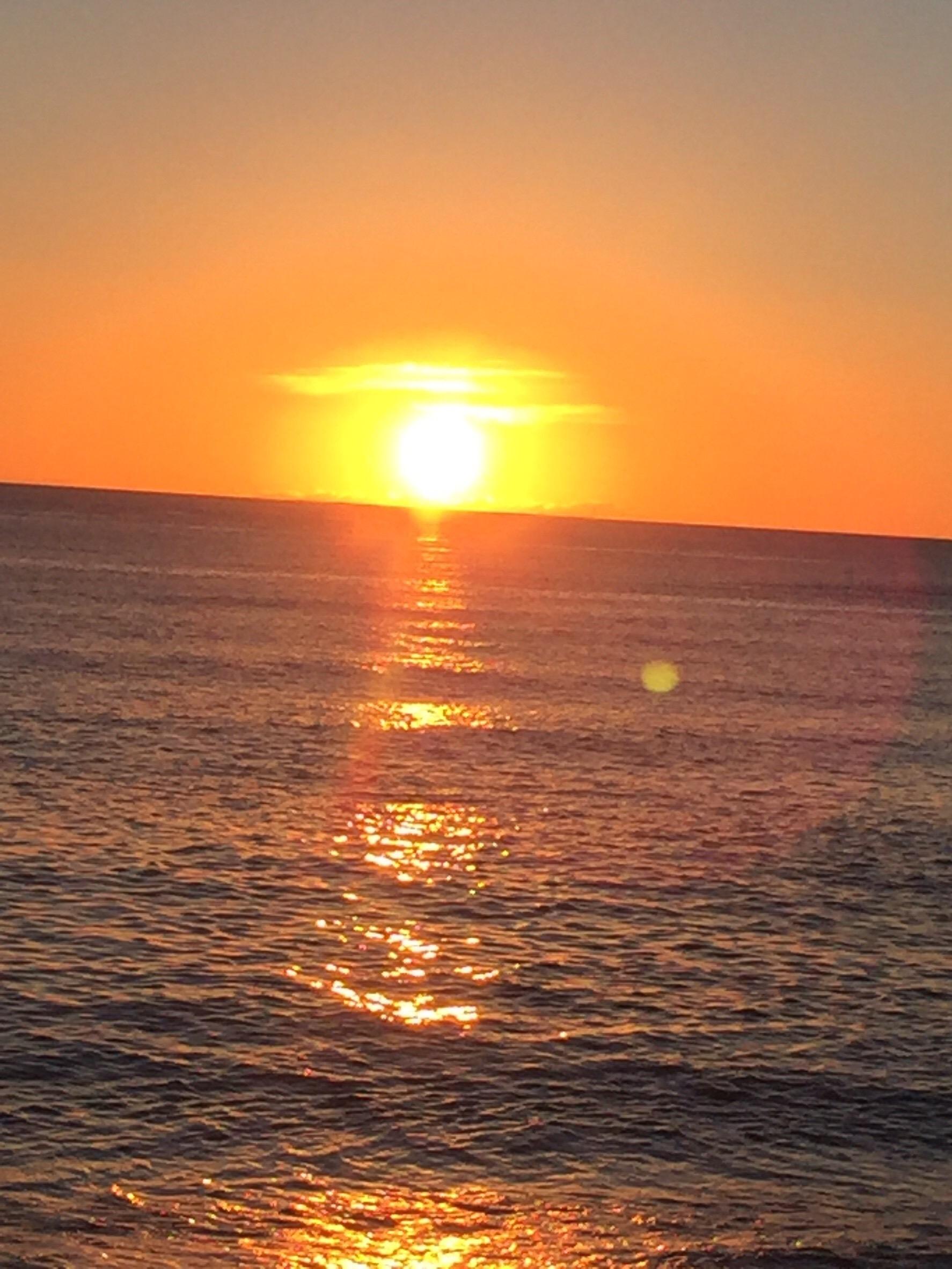 大浜海浜公園の夕日その1