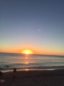 大浜海浜公園の夕日その2