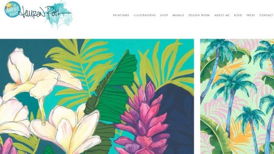 ハワイの大自然をアートに|ローレン・ロス【Lauren Roth】