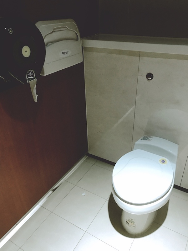 桃園空港のトイレ