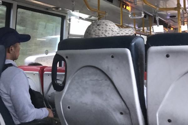 野柳地質公園帰りのバス