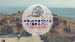台湾ひとり旅|面白い形の岩がたくさん!絶景ポイント「野柳地質公園」【+行き方】