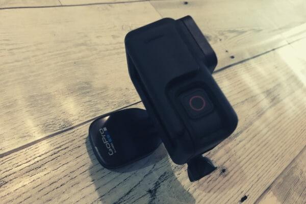 GoProをクイッククリップにマウント