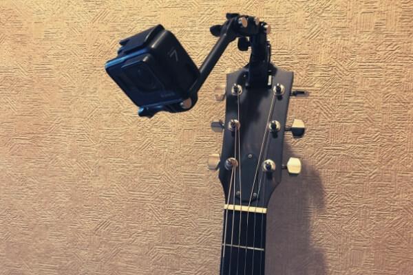 アコギに楽器マウントでGoProを装着