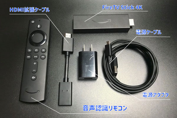 FireTV Stickのパッケージ内容