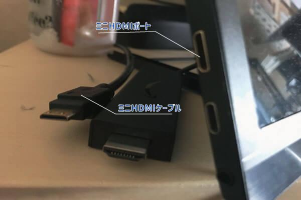 HDMIポートとミニHDMIポート